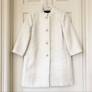 Ann Taylor Factory | Off White Tweed Jacket